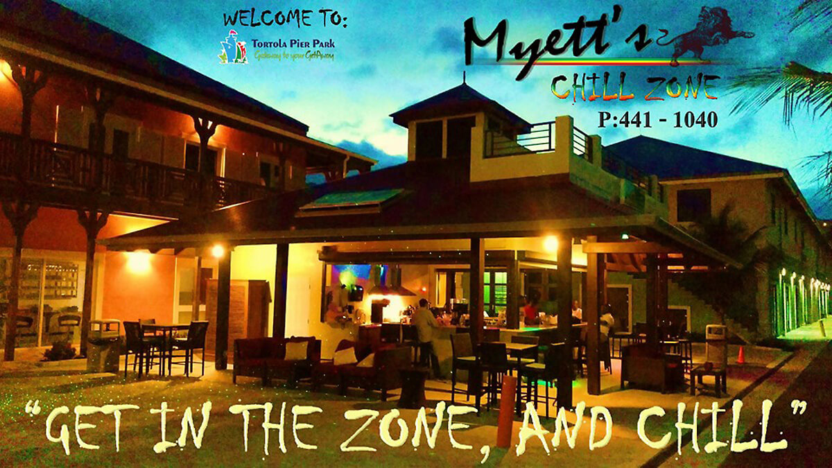 Myett's Chill Zone on Tortola Pier Park