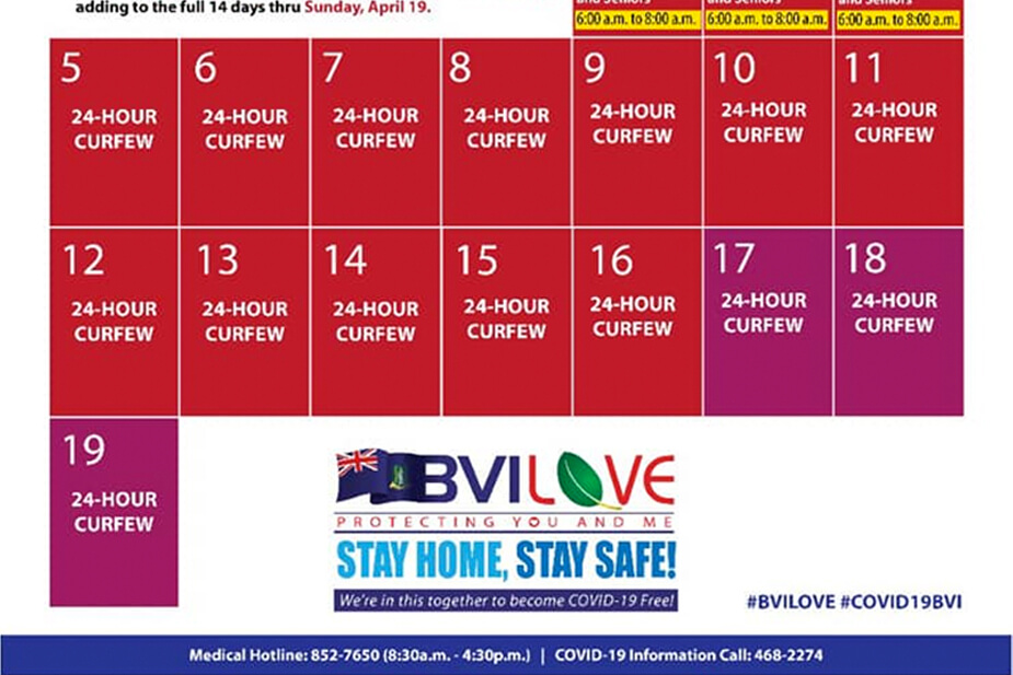 BVI Covid-19 Curfew Extended